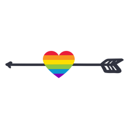 Flecha corazón arco iris lgbt pegatina