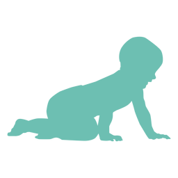 Baby child kid nappy toddler silhouette