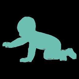 Bebê criança criança criança silhueta