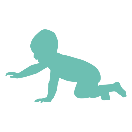 Baby child toddler kid silhouette Transparent PNG
