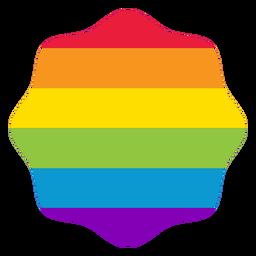 Etiqueta engomada del lgbt del arco iris de la flor de la insignia