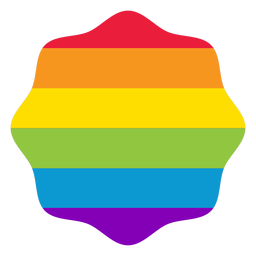 Etiqueta engomada lgbt del arco iris de la flor de la insignia