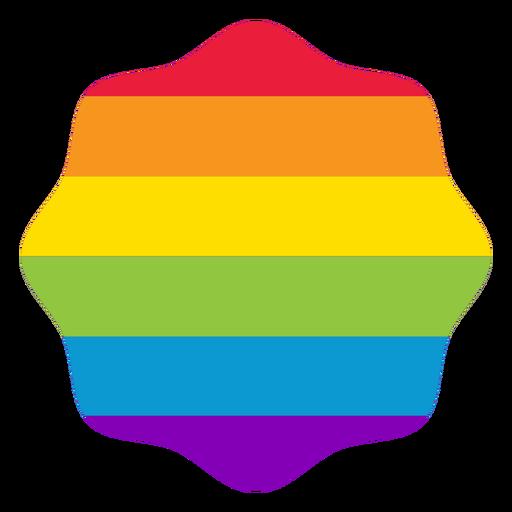 Badge flower rainbow lgbt sticker Transparent PNG