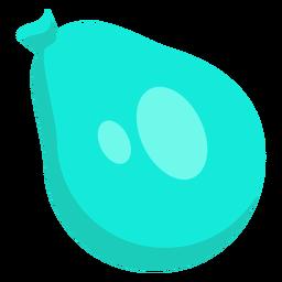 Bolso saco azul punto globo plano.