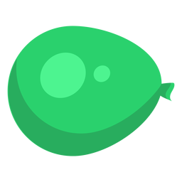 Bag green sack spot ballon flat