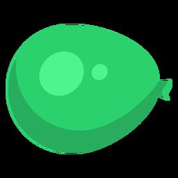 Bolso saco verde punto globo plano.