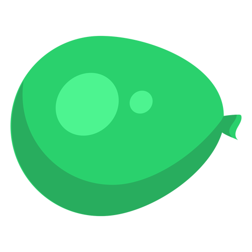 Bag green sack spot ballon flat Transparent PNG