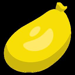 Bolso saco amarillo punto globo plano.