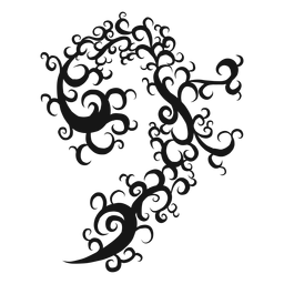Remolino de símbolo musical de clave de bajo
