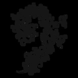 Wirbel des musikalischen Symbols des Bassschlüssels