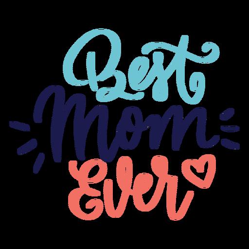 Autocolante de coração em inglês com a melhor mãe do mundo