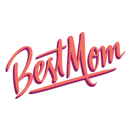Best mom english text sticker