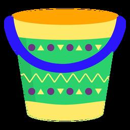 Padrão de balde plana