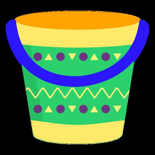 Padrão de balde plana Transparent PNG