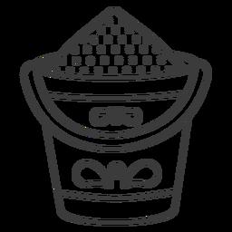 Bucket sand pattern stroke