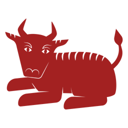 Bull bison chinese astrology silhouette