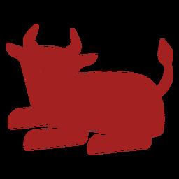 Silhueta de astrologia chinesa de bisão-touro