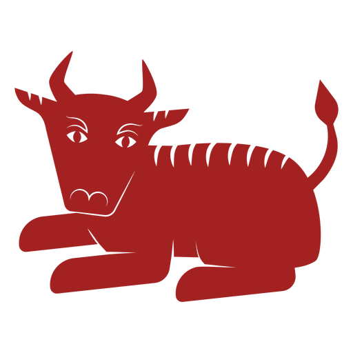 Toro bisonte astrología china silueta