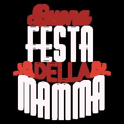 Italienischer Textaufkleber Buona Festa della Mamma