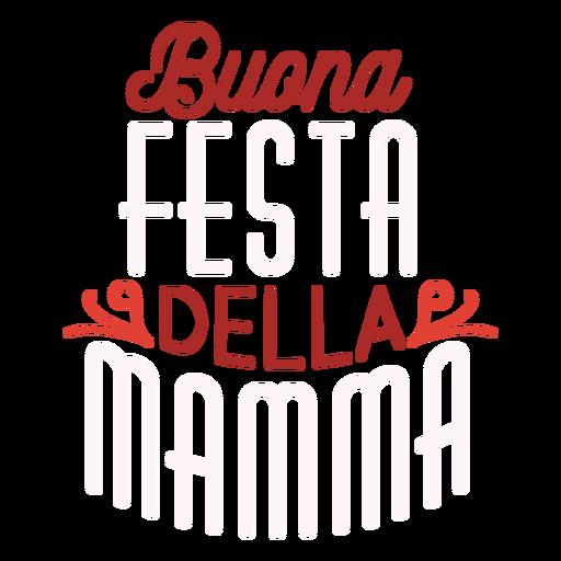 Italienischer Textaufkleber Buona Festa della Mamma Transparent PNG