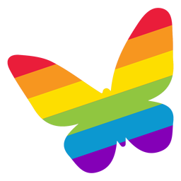 Butterfly wing rainbow lgbt sticker