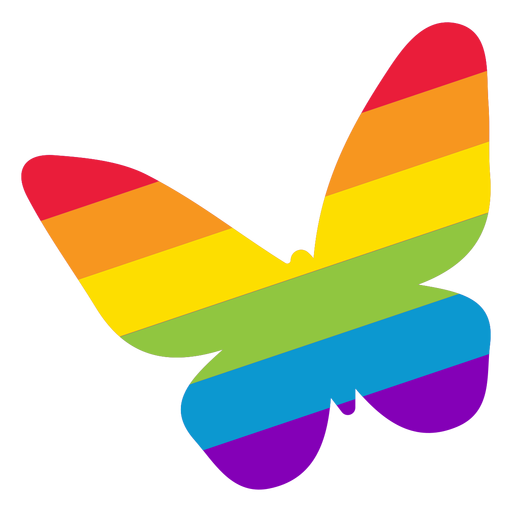 Butterfly wing rainbow lgbt sticker Transparent PNG