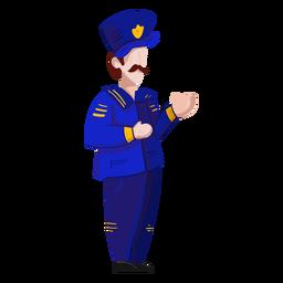 Capitán uniforme insignia ilustración bigote