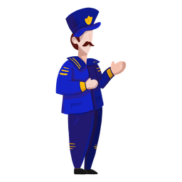 Capitão uniforme emblema bigode ilustração