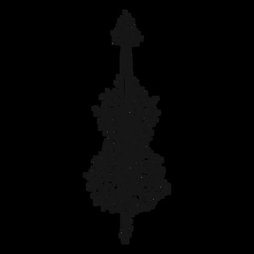 Instrumento musical para violonchelo Transparent PNG