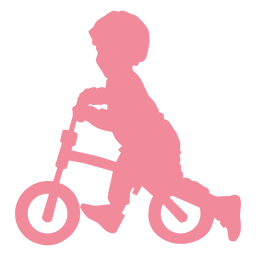 Child kid bicycle cycle bike silhouette