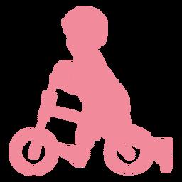 Criança, criança, bicicleta, ciclo, bicicleta, silueta