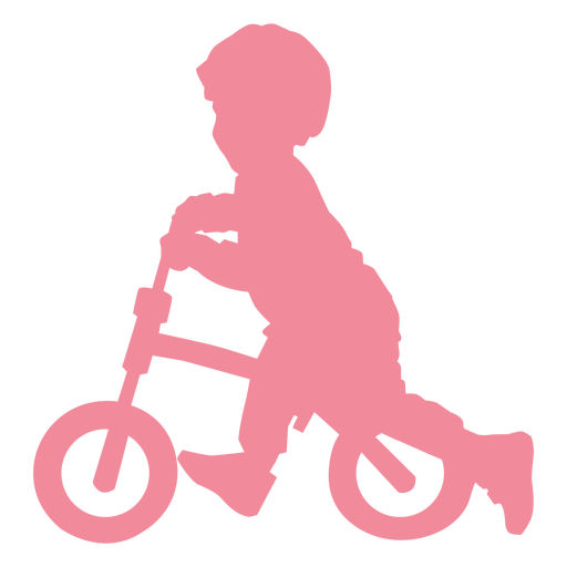 Child kid bicycle cycle bike silhouette Transparent PNG
