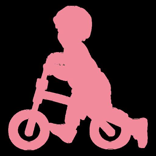 Niño niño bicicleta ciclo bicicleta silueta