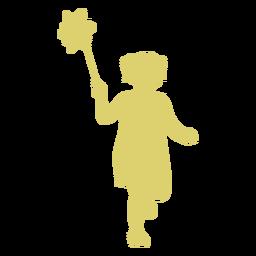 Child kid girl flower dress silhouette