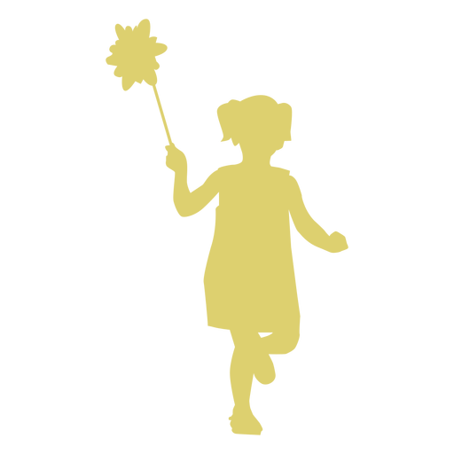 Child kid girl flower dress silhouette Transparent PNG