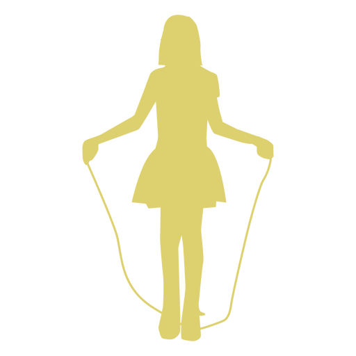 Child kid girl skipping rope skip rope jump rope silhouette Transparent PNG