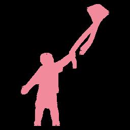Child kid kite t shirt shorts silhouette