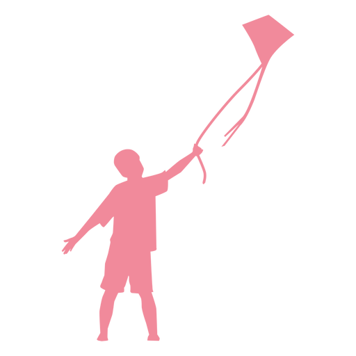 Child kid kite t shirt shorts silhouette Transparent PNG