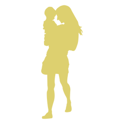 Child mother kid silhouette