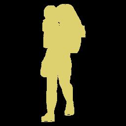 Criança, mãe criança, silueta