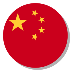 China flag language icon circle