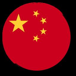 Círculo de ícone de língua de bandeira de China