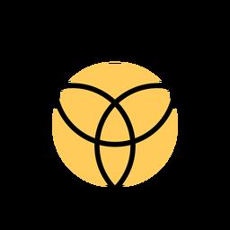 Círculo de três traços de entrelaçamento