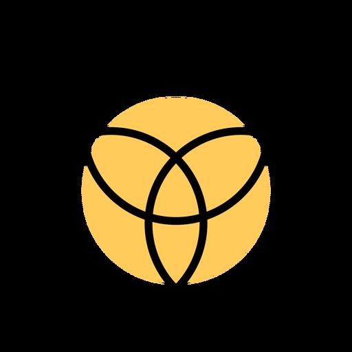 Círculo de três traços de entrelaçamento Transparent PNG