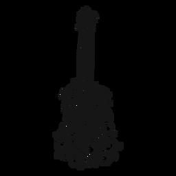 Redemoinho de instrumento musical de guitarra clássica
