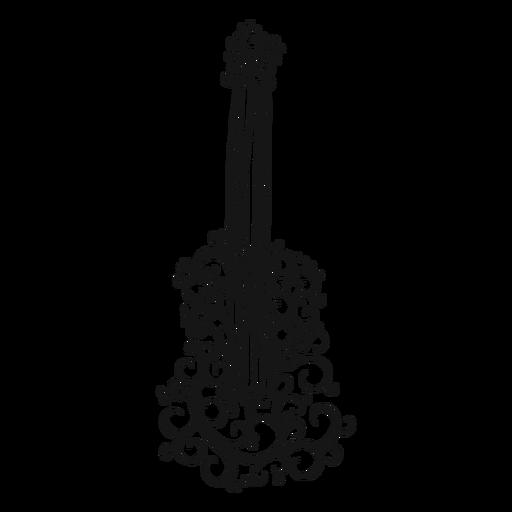 Classical guitar musical instrument swirl