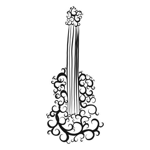 Remolino de instrumento musical de guitarra clásica