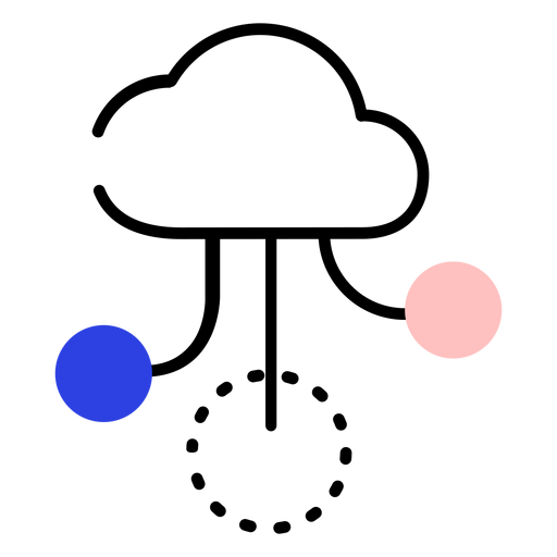 Nuvem semeando ícone círculo traço Transparent PNG