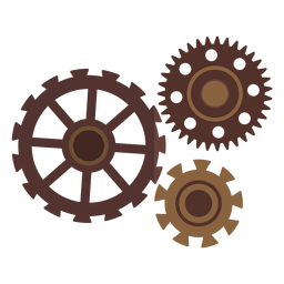 Cogwheel hole gear wheel gear pinion three flat