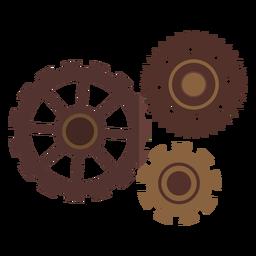 Piñón de engranaje de rueda dentada de orificio de rueda dentada tres planos